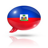 Haitian flag speech bubble