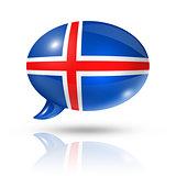 Icelandic flag speech bubble