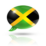 Jamaican flag speech bubble