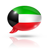Kuwaiti flag speech bubble