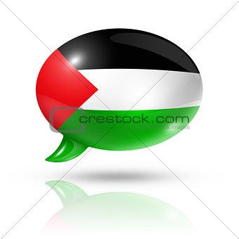 Palestinian flag speech bubble