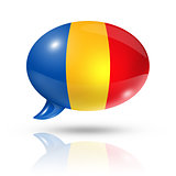 Romanian flag speech bubble