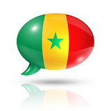 Senegalese flag speech bubble