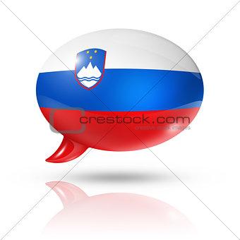 Slovenian flag speech bubble