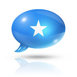 Somalian flag speech bubble