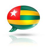 Togolese flag speech bubble