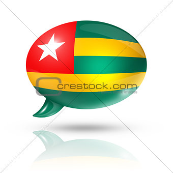 Togolese flag speech bubble