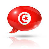 Tunisian flag speech bubble