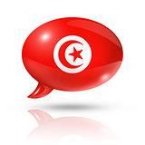 Tunisian flag speech bubble