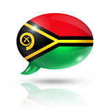 Vanuatu flag speech bubble
