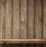Empty wood shelf background