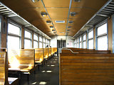inside of carriage of the electric train