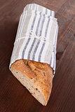 Whole grain baguette.