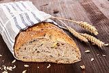Dark bread, rustic style.