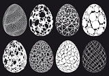Abstract 3D Easter eggs, vector set