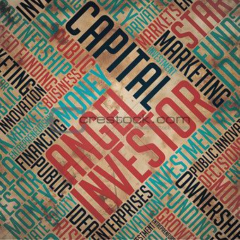 Angel Investor - Grunge Word Collage.