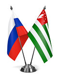Russia and Abkhazia - Miniature Flags.