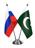 Russia and Pakistan - Miniature Flags.
