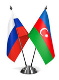 Russia and Azerbaijan - Miniature Flags.