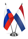 Russia and Netherlands - Miniature Flags.