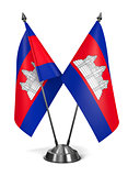Cambodia - Miniature Flags.