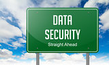 Data Security on Highway Signpost.