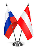 Russia and Austria - Miniature Flags.