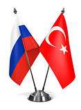 Russia and Turkey - Miniature Flags.
