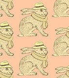 Sketch fancy hare in vintage style