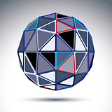 Complicated gray urban spherical object, 3d fractal metal disco