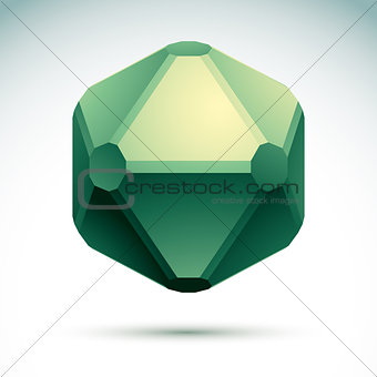 Abstract geometric 3D object, vector illustration, clear eps 8.
