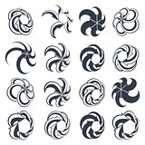 Looping arrows vector abstract symbol collection, single color c