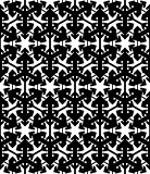 Contrast geometric seamless pattern with symmetric ornament. Hex