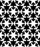 Black and white symmetric textured geometric seamless pattern. V