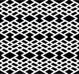 Monochrome visual abstract textured geometric seamless pattern.