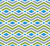 Colorful geometric zigzag seamless pattern, symmetric endless ve