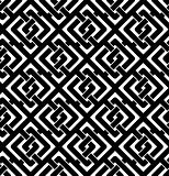Black and white abstract textured geometric seamless pattern. Sy