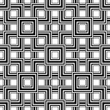 Seamless geometric pattern, black and white simple vector backgr