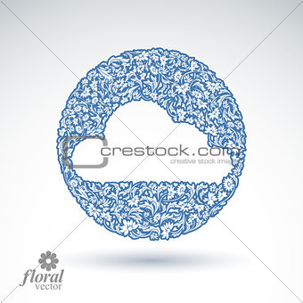 Climate conditions conceptual icon, flower-patterned gloomy clou