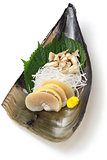 pen shell sashimi, japanese cuisine