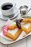 homemade heart shape churro