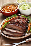 barbecue beef brisket plate