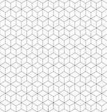 Gray and white cubes seamless pattern