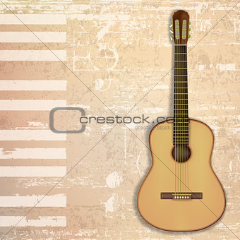 abstract grunge background with guitar