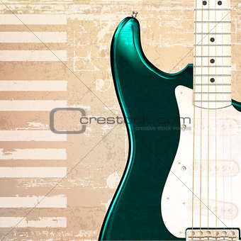 abstract grunge piano background with electric guitar