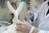 Artist Sculpting Alabaster, Volterra, Italy