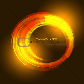 Abstract ardent background. Vector