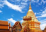 golden stupa, chiang mai, thailand