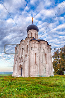 Church Intercession of Holy Virgin on Nerl River. Russia (HDR)