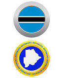 button as a symbol  BOTSWANA